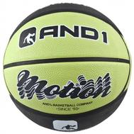 Мяч баскетбольный двухцветный - AND1 MOTION BLACK/GREEN, фото 1